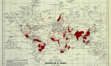 Map of Leprosy. 1891.
